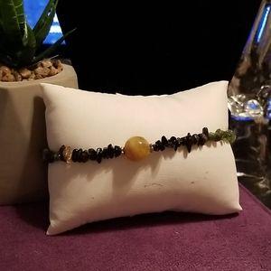 7 stone chips Anklet bracelet